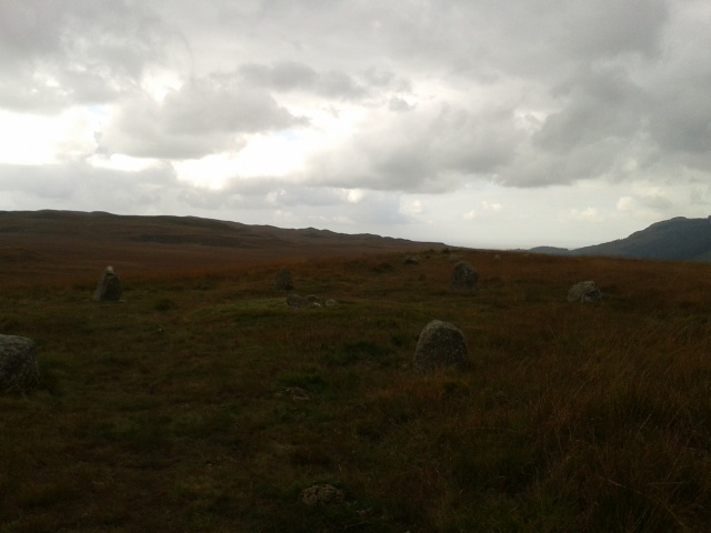 Stone circle on the way up to Eskdale Moor
